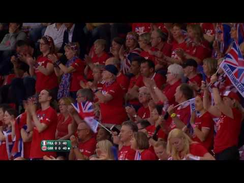 Dan Evans incredible backhand winner against Jeremy Chardy in the Davis Cup