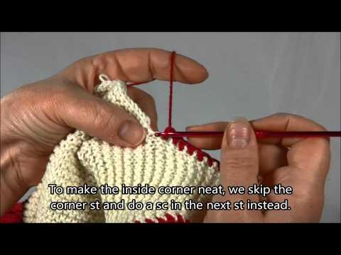 Crochet Edging for Knitted Items
