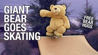 getlinkyoutube.com-WORLDS LARGEST SKATEBOARDING BEAR!!