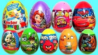 getlinkyoutube.com-SURPRISE EGGS Glitzi Globes, Angry Birds, Ben10, Scooby-Doo, Disney Cars, Sofia Маша и Медведь