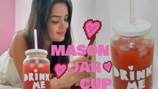 getlinkyoutube.com-DIY: Copo Pote | Mason Jar Cup
