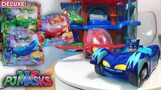 getlinkyoutube.com-PJ Masks Toys Deluxe Games ❤️️ HUGE Cars