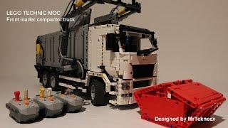 getlinkyoutube.com-LEGO Technic -  Front Loader Compactor Truck