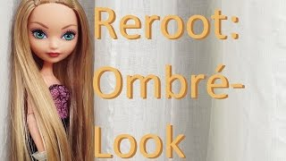 getlinkyoutube.com-Doll Hair Reroot: Ombré hair on an Ever After High dolls by EahBoy