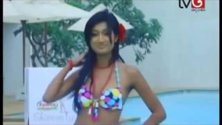 getlinkyoutube.com-Derana Veet Miss Sri Lanka bikini girs 2014