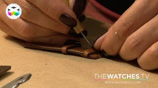 getlinkyoutube.com-How is a Hermès leather strap crafted, part 2