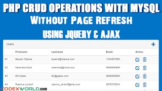 getlinkyoutube.com-PHP CRUD Operations without Page Refresh using jQuery Ajax MySQL