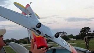 getlinkyoutube.com-E-Flite RC AT-6 Texan - Crash