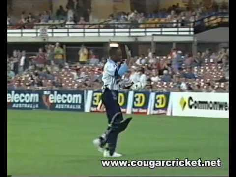 Brian Lara dismissed by a Woman