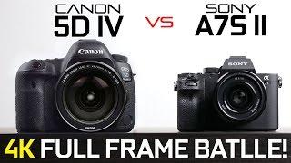 getlinkyoutube.com-Canon 5D Mark iV vs Sony A7s ii - Full Frame 4k Camera Showdown!