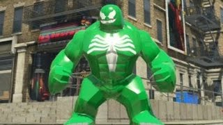 getlinkyoutube.com-LEGO Marvel Super Heroes - Green Venom Big-Fig Free Roam Gameplay (PS4)