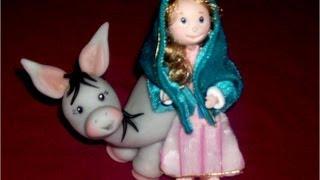 getlinkyoutube.com-Manualidades Navideñas Nacimiento de Porcelana Fría