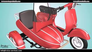 getlinkyoutube.com-Scooter sidecar fitment instructions video