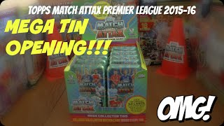 getlinkyoutube.com-MEGA TIN! ⚽️ KANE GOLD LIMITED EDITION ⚽️ MATCH ATTAX Premier League 2015-16 Trading Cards