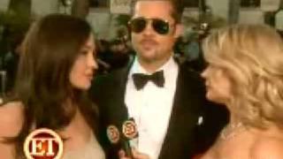 getlinkyoutube.com-Brad Pitt & Angelina Jolie @ The Golden Globe Award 2009