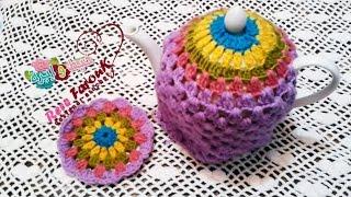 getlinkyoutube.com-كروشيه غطاء\ تلبيسه ابريق الشاى  \ خيط وابره \ Crochet Tea Pot Cozy/Warmer