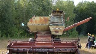 getlinkyoutube.com-Комбайн СК-5М1 Нива, запуск двигателя