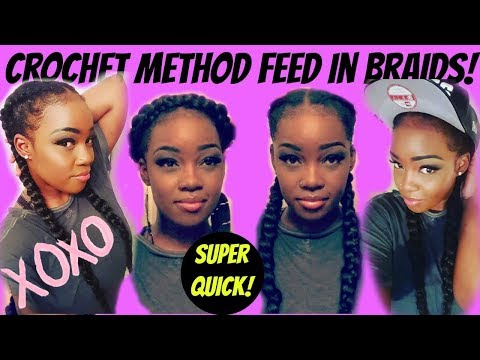 CROCHET METHOD || FEED-IN BRAIDS
