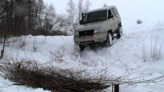 getlinkyoutube.com-Pajero TLC 80 Jeep Cherokee Уаз Патриот через зимний ручей