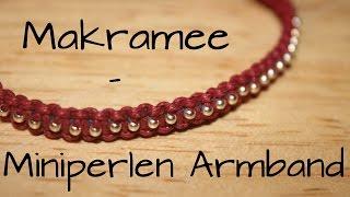 getlinkyoutube.com-Makramee: Miniperlen Armband | DIY