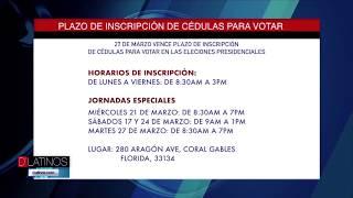 Horarios de inscripción de Cédulas para colombianos en Florida