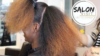 getlinkyoutube.com-Salon Visit | Straightening Natural Hair (Type 4 hair)