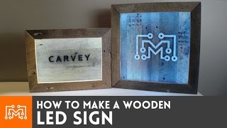 getlinkyoutube.com-LED sign with reclaimed wood // How-To
