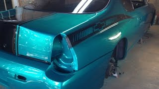 getlinkyoutube.com-How To Spray Candy Paint / Footage In The Booth / Update 9 - 2000 Monte Carlo SS Candy Teal