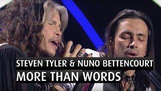 "getlinkyoutube.com-Steven Tyler & Nuno Bettencourt ""More than words""  - The 2014 Nobel Peace Prize Concert"