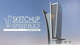 getlinkyoutube.com-Sketchup - Speed Building - Skyscraper 1