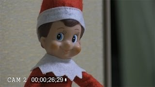 getlinkyoutube.com-Security cameras catch Elf on a Shelf moving in office
