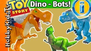 MEGA Imaginext DINO-BOTS! Rex Finds His Roar + Surprise Eggs [Box Open] by HobbyKidsTV