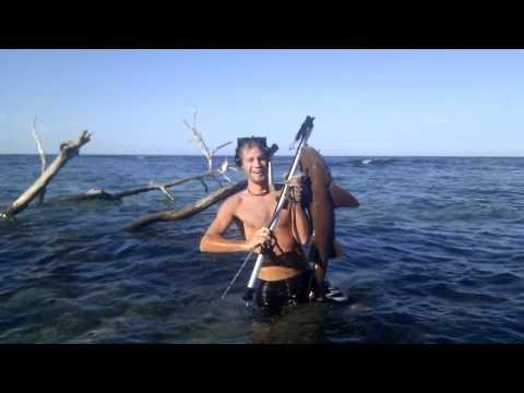 Pesca con arpon Adrian Caribe