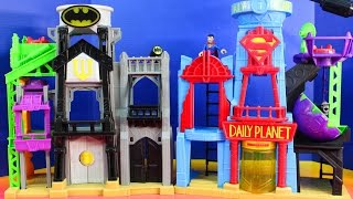 getlinkyoutube.com-Imaginext Batman And Superman Superhero Flight City With Daily Planet And Wayne Tower