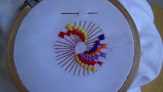 getlinkyoutube.com-Hand Embroidery: ColorWheel Stitch