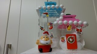 getlinkyoutube.com-DIY Christmas Crafts Ideas: How to Make a Cute Ice Home for Santa Claus Recycled Bottles Crafts