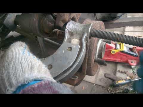 Замена задних колодок и пальцев суппорта Chevrolet Lacetti - Nubura