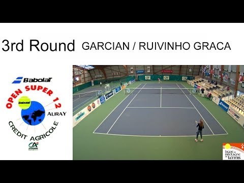 Garcian (FRA) - Ruivinho Graca (POR) - Open Super 12 Auray Tennis- Girls Single 3rd Round (Court 4)