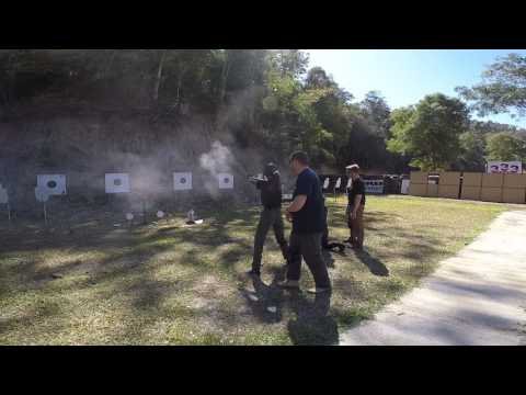 Anna and Yi Ying live firing from a standing and kneeling position
