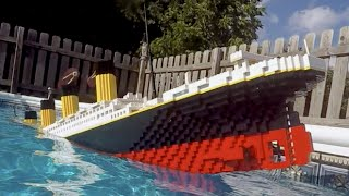 getlinkyoutube.com-Sinking LEGO Titanic [7 foot model]