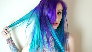 getlinkyoutube.com-Purple Rain & Turquoise - DYE TIME!