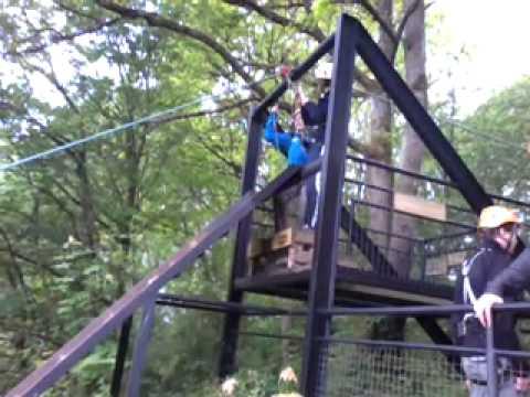 Super tokkelbaan Ardennen Outdoor Camping Barvaux