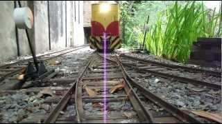 getlinkyoutube.com-Ride-on backyard railroad (10) - Locomotive sound