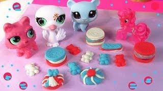 getlinkyoutube.com-MLP Pinkie Pie 4th of July Littlest Pet Shop Playdoh Treats My Little Pony LPS