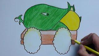 getlinkyoutube.com-Dibujando y pintando a Masorcañon (Plantas vs Zombies) - Drawing and painting to Masorcañon