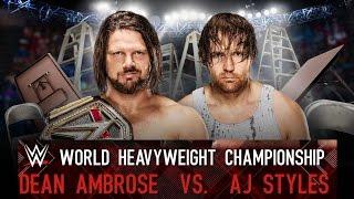 getlinkyoutube.com-WWE AJ STYLES VS DEAN AMBROSE TLC MATCH WWE 2K17