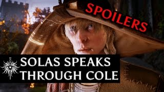 getlinkyoutube.com-Dragon Age: Inquisition - Solas speaks through Cole then wipes his memory (post campaign SPOILER)