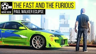 getlinkyoutube.com-Grand Theft Auto 5 - The Fast and the Furious Paul Walker Eclipse