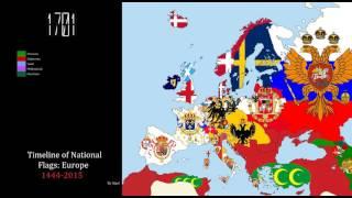 getlinkyoutube.com-Timeline of National Flags: Europe (1444-2015)