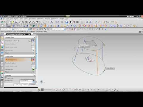 Through Curve Mesh Tutorial NX 7.5